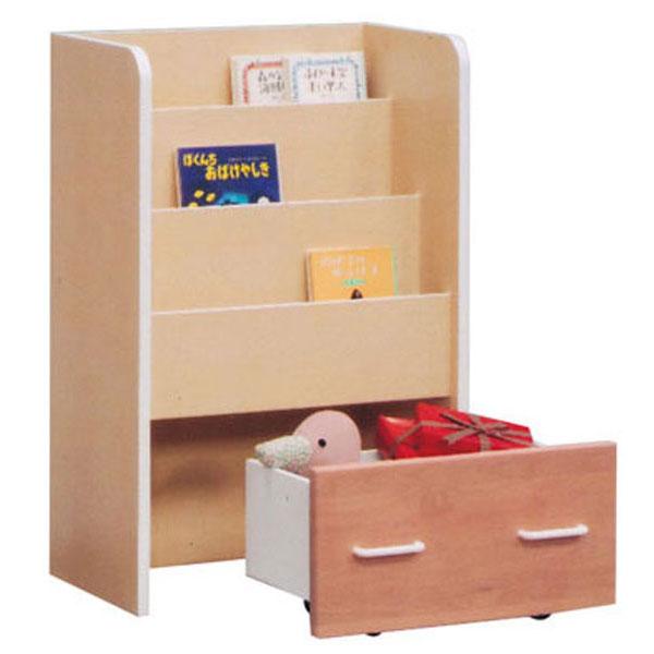 ラック 絵本ラック ベビー家具引出し付き 完成品 国産 60cm幅「あんじゅ」 送料無料