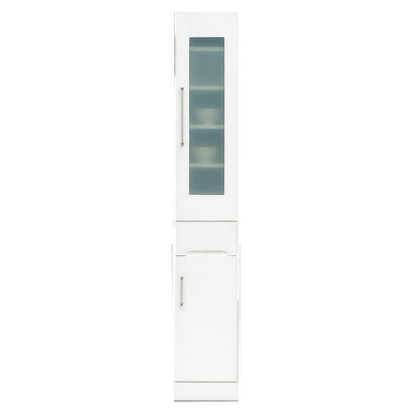 食器棚 隙間家具 スリムボード30cm幅 「クリスタル3」 国産送料無料