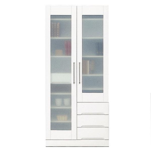 開梱設置 送料無料食器棚 マルチボード 80cm幅「クリスタル3」 国産