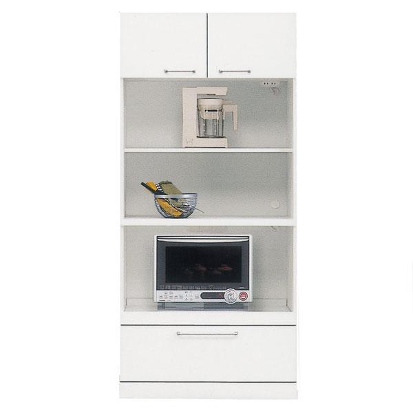 食器棚 レンジ台 トリプルハイレンジボード80cm幅 「クリスタル3」 国産 開梱設置 送料無料