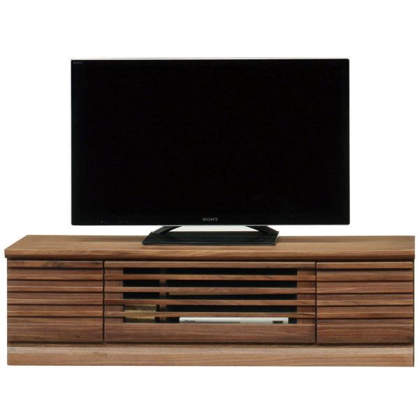 送料無料 開梱設置テレビボード ローボード 完成品135cm幅 「フレア」 2色対応