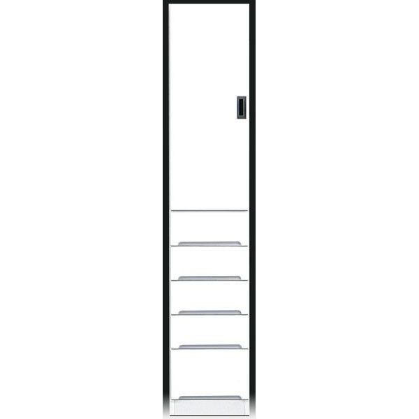 \ポイント増量&お得クーポン/食器棚 完成品 隙間家具スリム 上板扉 下引出し35cm幅 ホワイト 「スペース35B」送料無料
