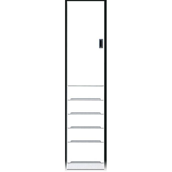 \ポイント増量&お得クーポン/食器棚 完成品 隙間家具スリム 上板扉 下引出し40cm幅 ホワイト 「スペース40B」送料無料