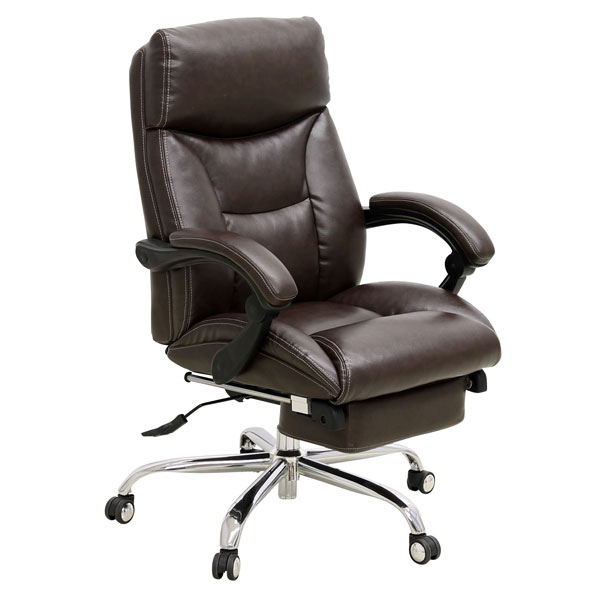 オフィスチェア リクライニング 事務椅子ワークチェア ダークブラウン C-300 送料無料