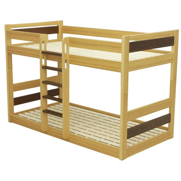 \ポイント増量&お得クーポン/組み立てします 送料無料2段ベッド 二段ベッド 低床タイプオーク&ウォールナット突板 ラナ開梱設置