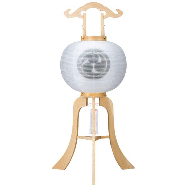 お盆には、故人を偲んで盆提灯を飾りましょう。 盆提灯 行灯 大内行灯 11号 柾絹二重無地電気コード式 家紋入れサービス 8449-11-004