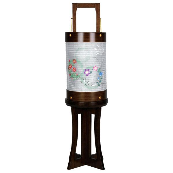 お盆には、故人を偲んで盆提灯を飾りましょう。 盆提灯 霊前灯 愁霊燈 雪輪 電気コード式 8730-36-329