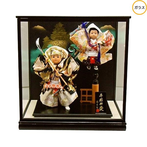 【ポイント最大33倍&お得クーポン】 わらべ人形 ケース飾り 五月人形 五月飾り童人形 節句人形 端午の節句 7号 牛若弁慶