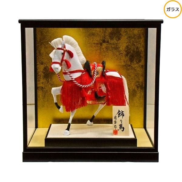 【ポイント最大34倍&クーポン】 わらべ人形 ケース飾り 五月人形 五月飾り童人形 節句人形 端午の節句 15号 飾り馬