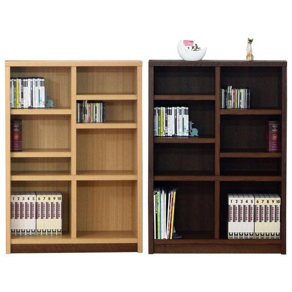 本棚 書棚 ブックシェルフ コミックシェルフミドルタイプ 日本製 90cm幅 2色対応 イフ【代引不可商品】