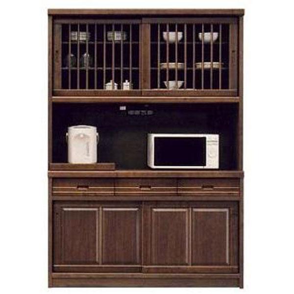 オープン食器棚 135cm幅 引き戸 レンジ台 レンジボード 完成品 和風国産 送料無料 開梱設置
