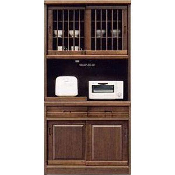 \ポイント増量&お得クーポン/送料無料 開梱設置食器棚 引き戸 完成品レンジボード オープン食器棚93cm幅