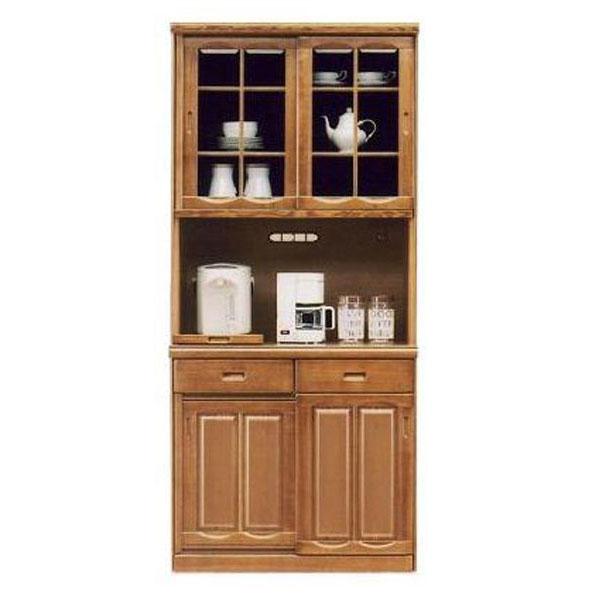 送料無料 開梱設置食器棚 引き戸 完成品国産 レンジ台 レンジボード90cm幅
