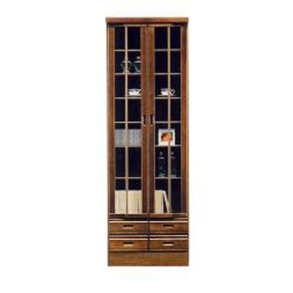 本棚 書棚 60cm幅 フリーボード完成品 国産 開き戸 送料無料 開梱設置