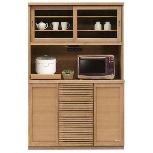 オープン食器棚 引き戸 レンジ台 120cm幅レンジボード 完成品 和風国産 送料無料 開梱設置