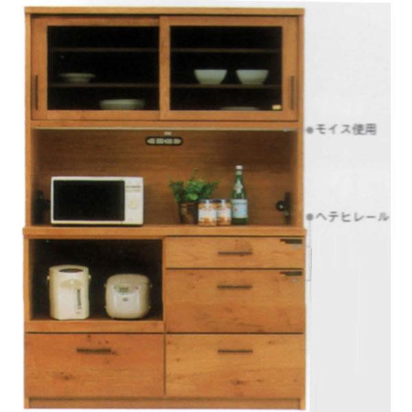 オープン食器棚 140cm幅 引き戸レンジ台 レンジボード完成品 和風 国産送料無料 開梱設置