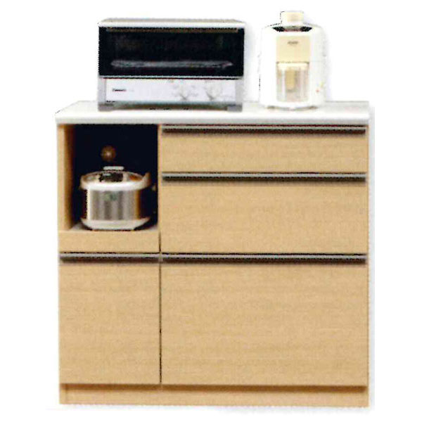 キッチンカウンター 完成品 90cm幅 「Nモビット」開梱設置 送料無料
