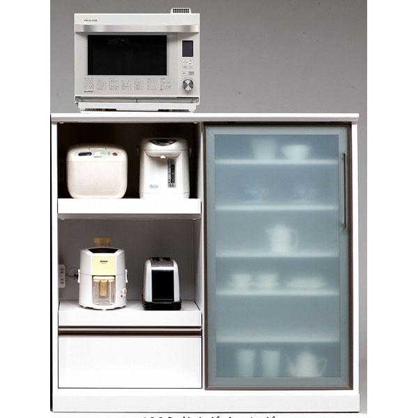 カウンター ミドルレンジ台 キッチン収納 リコ家電収納 完成品 120cm幅開梱設置 送料無料
