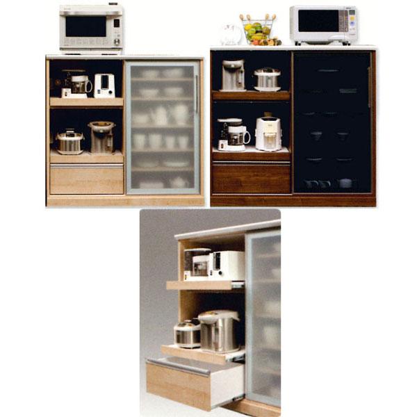 カウンター ミドルレンジ台 キッチン収納家電収納 完成品 120cm幅 スパーク開梱設置 送料無料