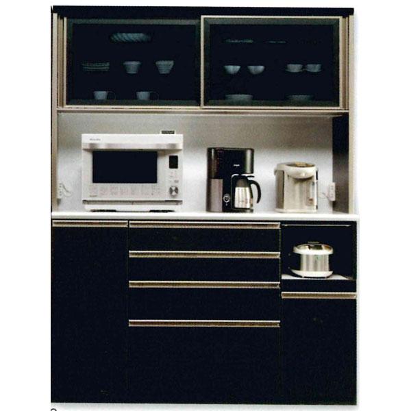 食器棚 完成品 レンジボード国産 150cm幅 「トレンド」送料無料 開梱設置