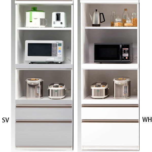 食器棚 完成品 オープン食器棚レンジ収納 70cm幅 カラー対応4色「アリスト」 開梱設置 送料無料