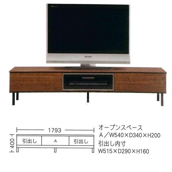 日本製 国産 テレビボード TVボード テレビ台ローボード 180cm幅「クオーレ」 開梱設置 送料無料