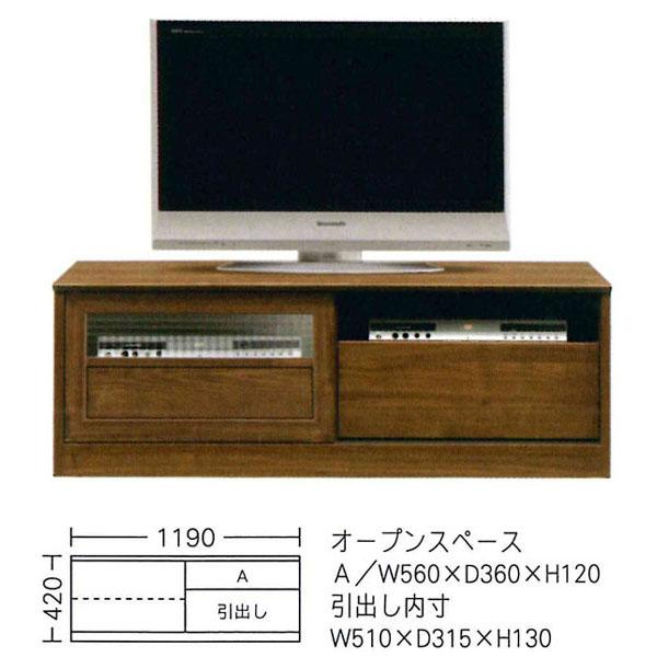 \ポイント増量&お得クーポン/日本製 国産 テレビボード TVボード テレビ台ローボード 2色対応 120cm幅「ポーラ」 開梱設置 送料無料