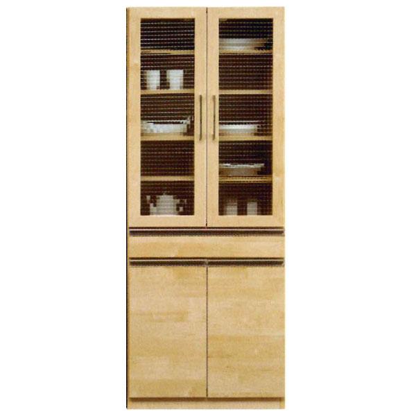 \ポイント増量&お得クーポン/食器棚 完成品 食器棚70cm幅 カラー対応3色「ラルフ」 開梱設置 送料無料