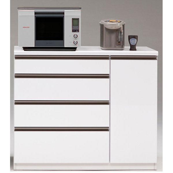 カウンター キッチンカウンター 完成品120cm幅 「ステルス」 カラー対応3色開梱設置 送料無料