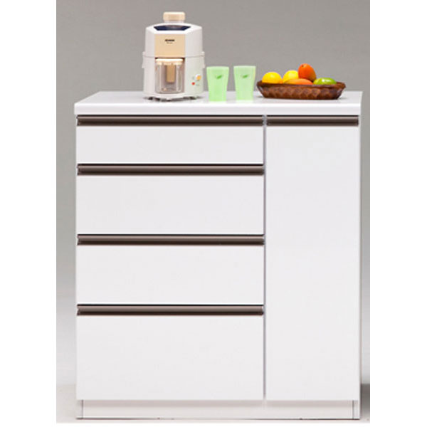 カウンター キッチンカウンター 完成品90cm幅 「ステルス」 カラー対応3色開梱設置 送料無料
