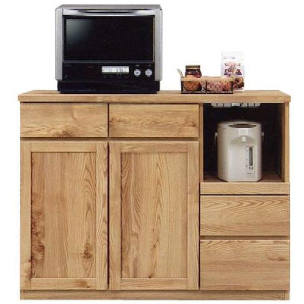 \ポイント増量&お得クーポン/キッチンカウンター「チャトラ」 120cm幅 2色対応 開梱設置 送料無料