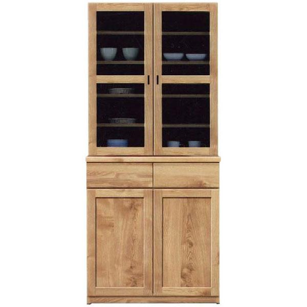 \ポイント増量&お得クーポン/ダイニングボード 食器棚「チャトラ」 80cm幅 2色対応 開梱設置 送料無料