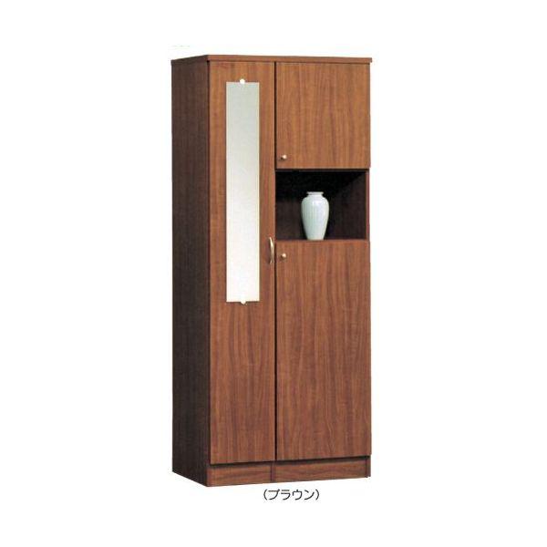 \ポイント増量&お得クーポン/シューズボックス 下駄箱 ハイタイプ 国産 2色対応 75cm幅 「ディープ」開梱設置 送料無料