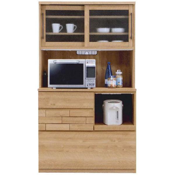 キッチンボード レンジボード 食器棚「ダグ」 105cm幅 開梱設置 送料無料