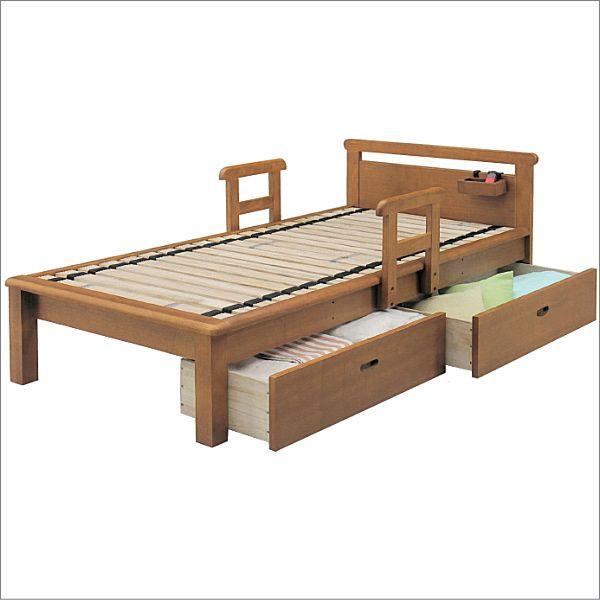 組み立てします 送料無料 開梱設置シングルベッドフレーム 「江戸」フラットタイプロ-リング巻きすのこ床板