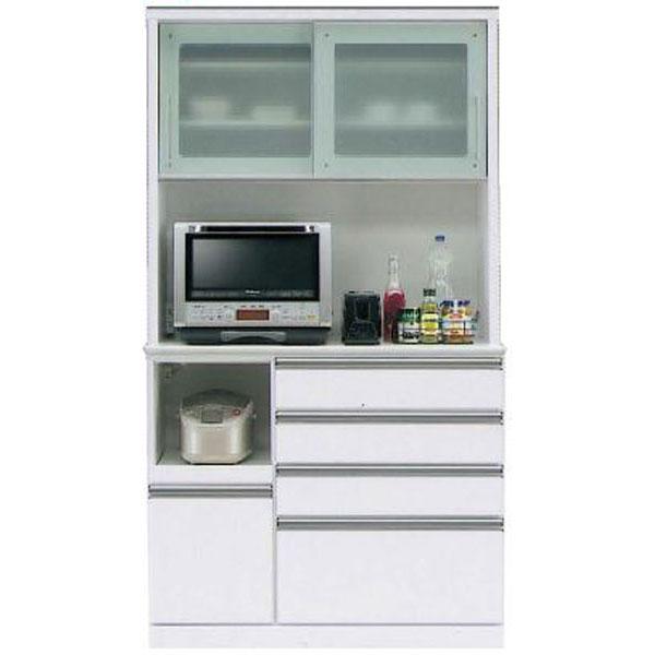 キッチンボード レンジボード 食器棚「フェイス」 110cm幅 2色対応 開梱設置送料無料