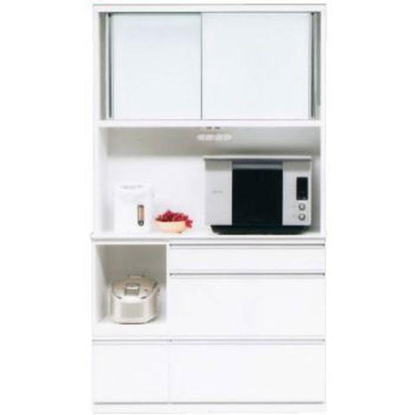 \ポイント増量&お得クーポン/キッチンボード レンジボード 食器棚「フライ」 120cm幅 3色対応開梱設置送料無料