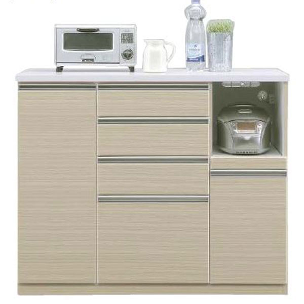 \ポイント増量&お得クーポン/キッチンカウンター「ヘリオス」 120cm幅 3色対応 開梱設置送料無料