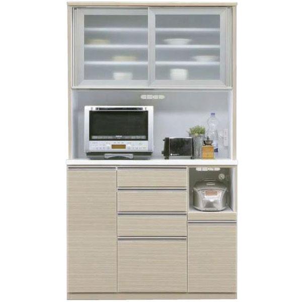 \ポイント増量&お得クーポン/キッチンボード レンジボード 食器棚「ヘリオス」 120cm幅 3色対応 開梱設置送料無料