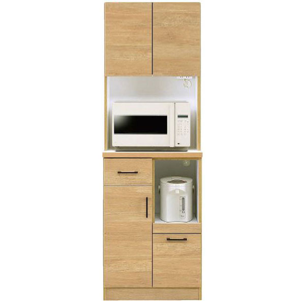 \ポイント増量&お得クーポン/キッチンボード オープン食器棚「きざし」 60cm幅 カラー対応2色開梱設置送料無料