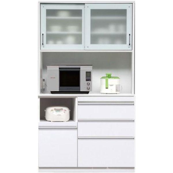 \ポイント増量&お得クーポン/キッチンボード レンジボード 食器棚「マーセル」 120cm幅 2色対応 開梱設置送料無料