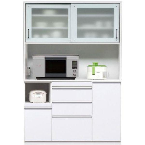 キッチンボード レンジボード 食器棚「マーセル」 140cm幅 2色対応 開梱設置送料無料