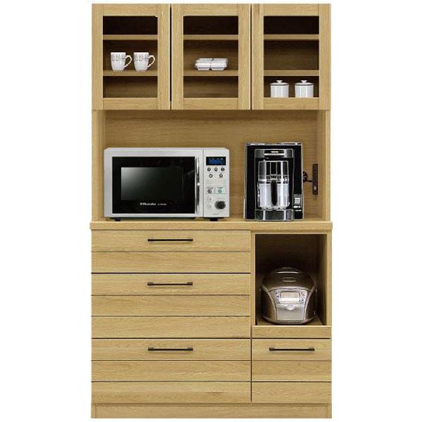 【ポイント増量&お得クーポン】 キッチンボード レンジボード 食器棚「ロシェ」 105cm幅 開梱設置 送料無料