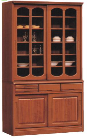 食器棚 引き戸 完成品 和風118cm幅 国産 「トラッド」送料無料 開梱設置