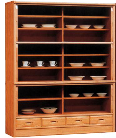 食器棚 引き戸 完成品ダイニングボード 和風 国産146cm幅 「ユリ」 開梱設置 送料無料