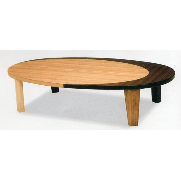 \ポイント増量&お得クーポン/座卓 応接台 テーブル 折れ脚完成品 「クラン」 150cm幅 国産楕円形 送料無料