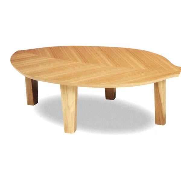 \ポイント増量&お得クーポン/テーブル 座卓 折り脚ニレ材 「リーフ」120cm幅 国産 送料無料
