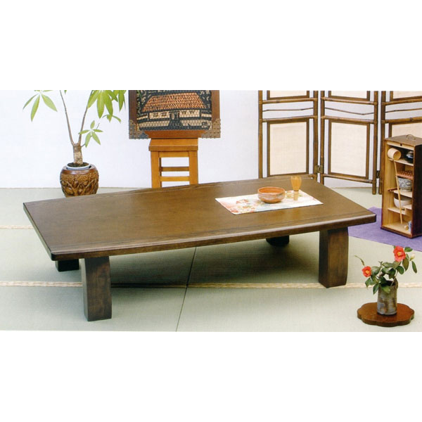 \ポイント増量&お得クーポン/座卓 テーブル 「ロマンス」 150cm幅ナラ材 折り脚 送料無料