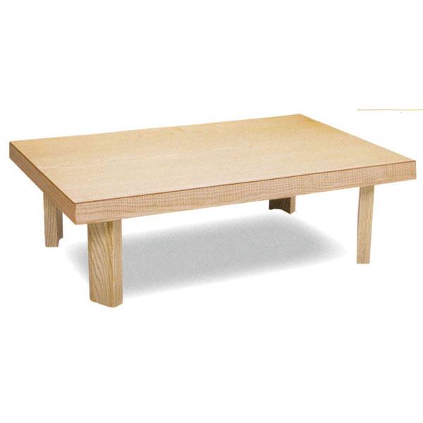 \ポイント増量&お得クーポン/テーブル 座卓 折り脚セン材 「するが」120cm幅 国産 送料無料