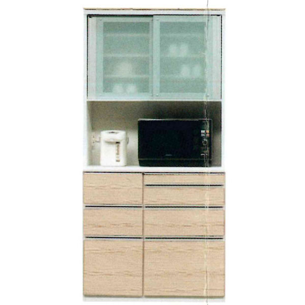 食器棚 90cm幅 完成品レンジボード国産 開梱設置 送料無料 受注生産品